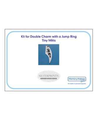 Memory Makers silverprints tiny mitts double charm with jump ring - kit