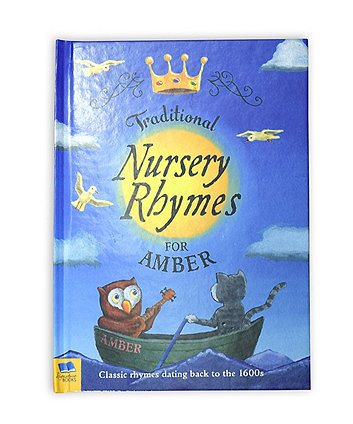 personalised traditional nursery rhymes softback book