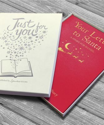 personalised your letter to santa embossed classic hardback book