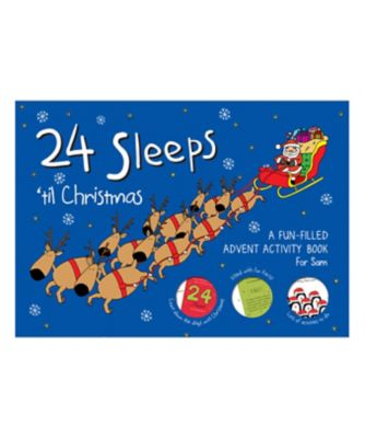 personalised 24 sleeps 'til christmas advent activity book