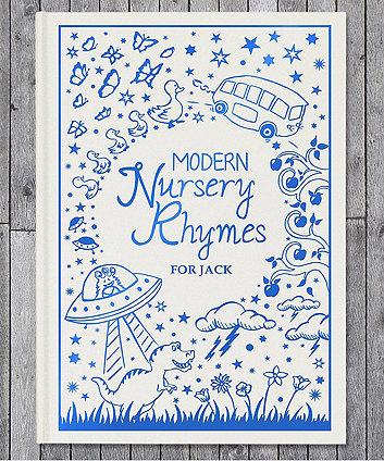 personalised modern nursery rhymes embossed classic hardback book