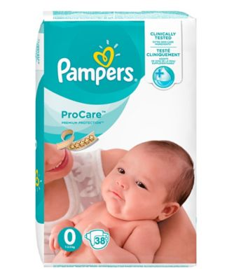 Pampers procare size 0 nappies - 38 pack