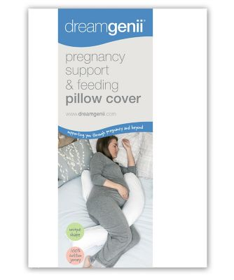 Dreamgenii pregnancy support and feeding pillow cover - white cotton jersey