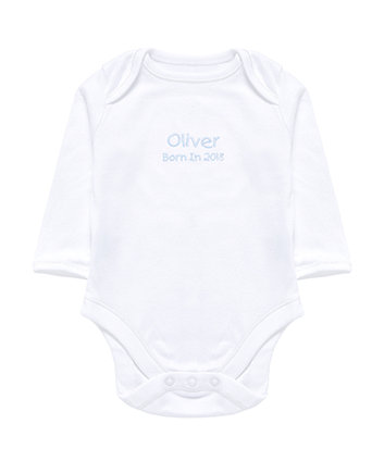 mothercare personalised born in 2018 bodysuit - blue