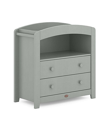 Boori universal curved 2 draw chest changer (alice) - pebble *exclusive to mothercare*