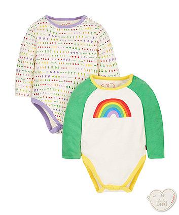 452b61455 Little Bird by Jools Rainbow Bodysuits - 2 Pack   unisex   Mothercare