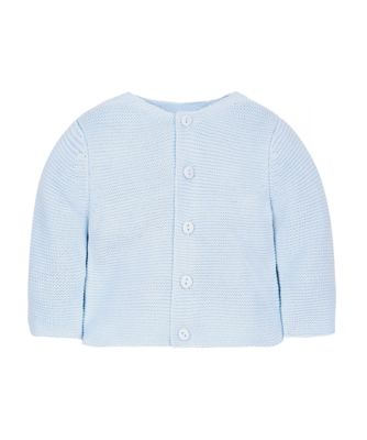 my first little lion blue purl knit cardigan