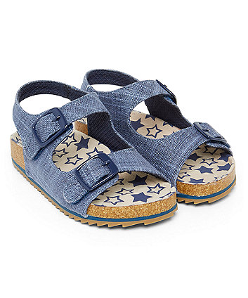 Chambray Footbed Sandals