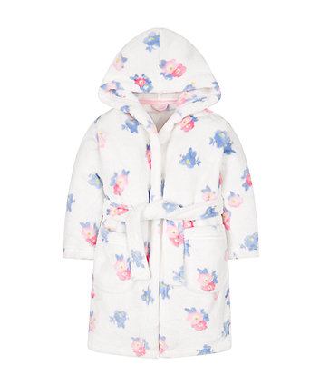 floral fluffy robe | robes | Mothercare
