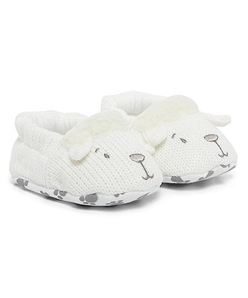 knitted lamb booties