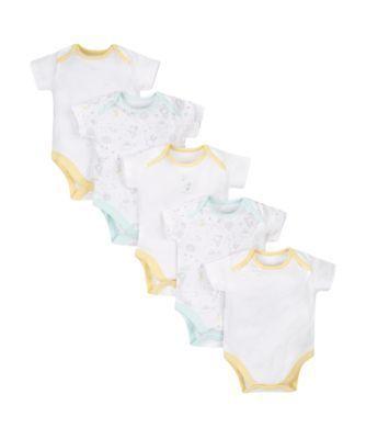 twinkle twinkle short sleeve bodysuits - 5 pack