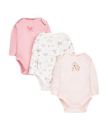 little garden bodysuits - 3 pack