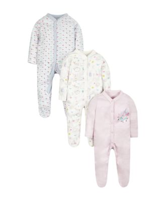 little birdy sleepsuits - 3 pack
