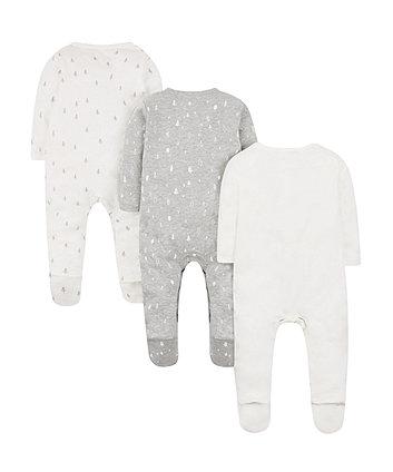 petit bébé sleepsuits -3 pack