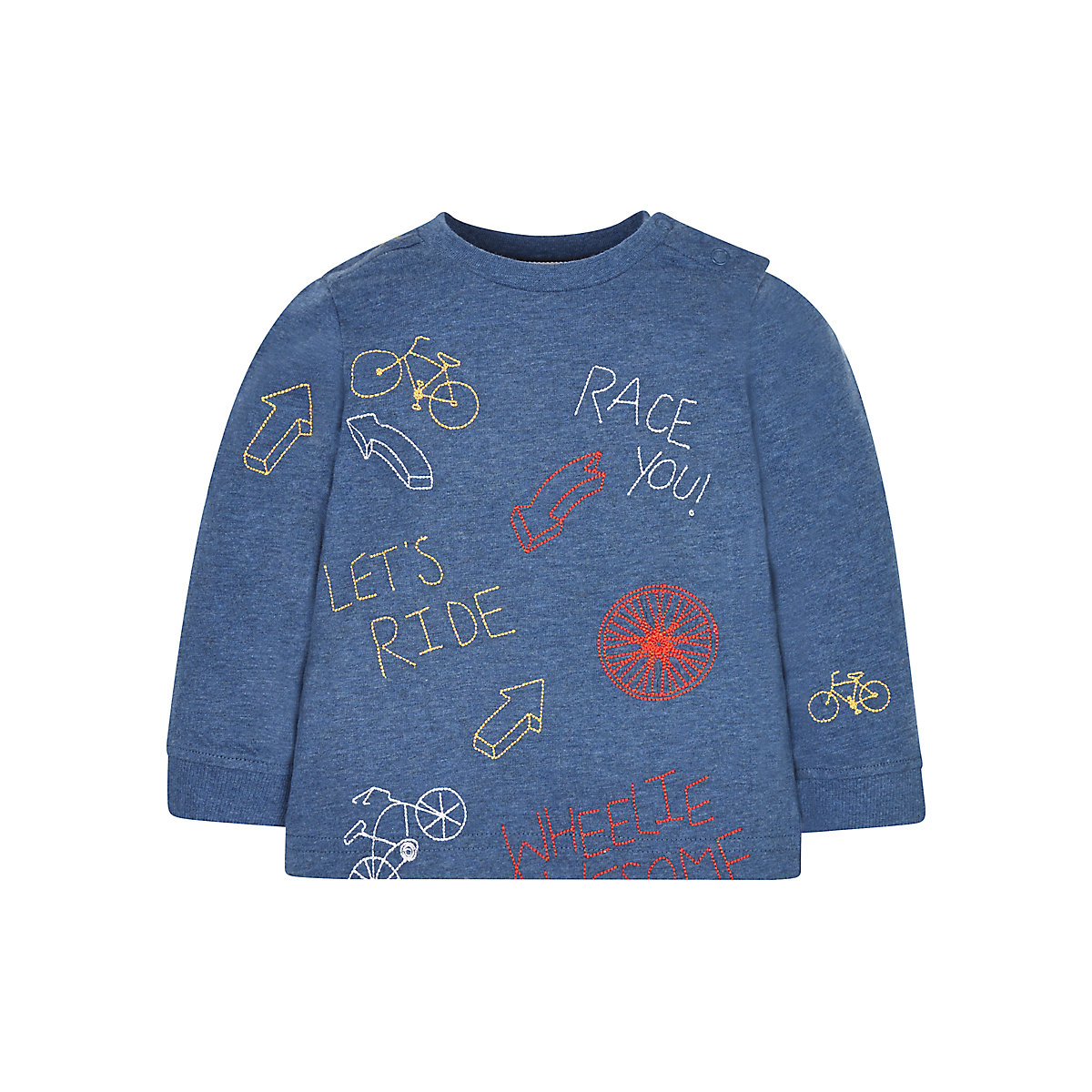 Bicycle Embroidered T Shirt