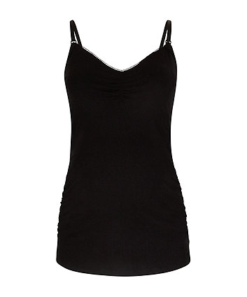 black nursing vest with inner support