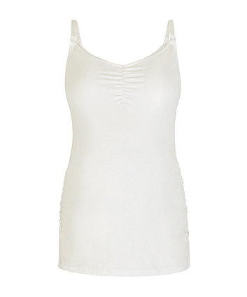 white nursing vest with inner support