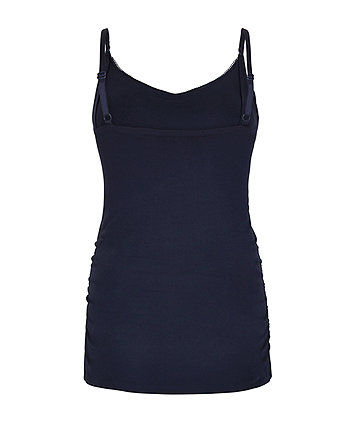 navy nursing vest with inner support