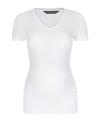 white v-neck maternity t-shirt