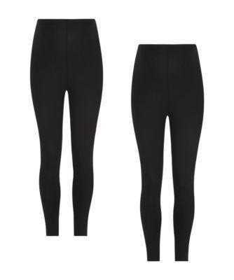 black full length maternity leggings - 2 pack