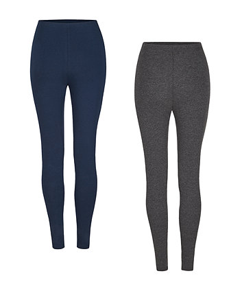 9425ad7988a9b navy and grey full length maternity leggings - 2 pack