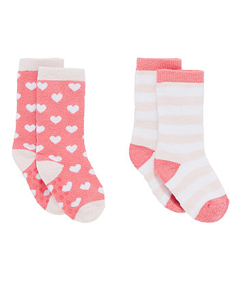 heart welly socks - 2 pack