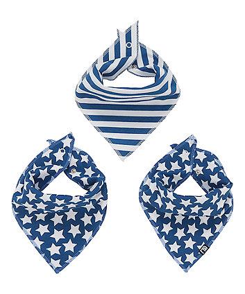 blue star dribbler bibs - 3 pack