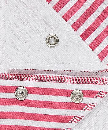 pink heart dribbler bibs - 3 pack