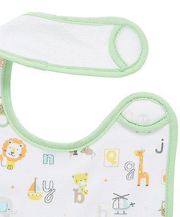 mothercare newborn abc jungle bibs - 3 pack