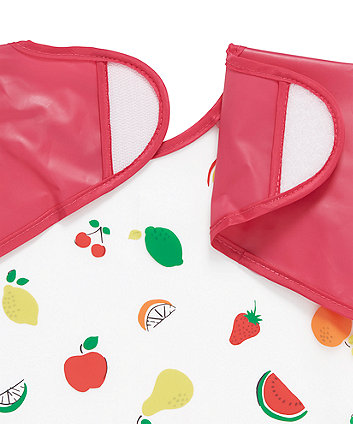 mothercare fruit coverall toddler bibs - 2 pack