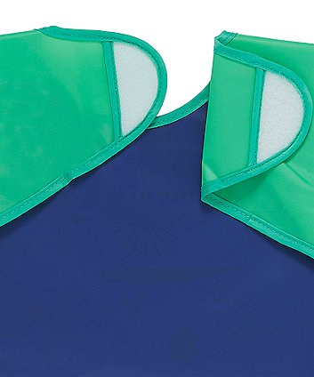 mothercare dino coverall toddler bibs - 2 pack