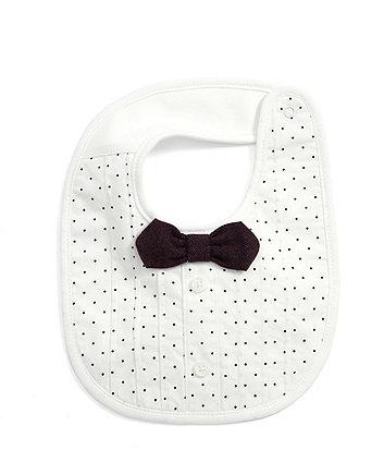 Mamas & Papas pin dot bow tie bib