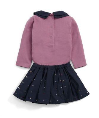 Mamas & Papas spot skirt and bodysuit set