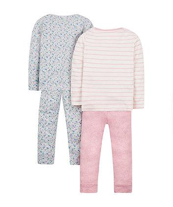bunny pyjamas - 2 pack