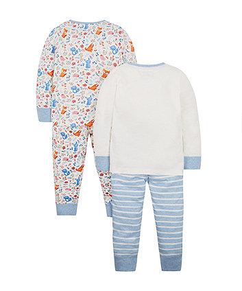 fox pyjamas - 2 pack