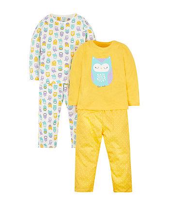 little owl pyjamas - 2 pack