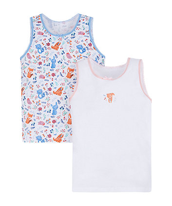 woodland animal vests - 2 pack