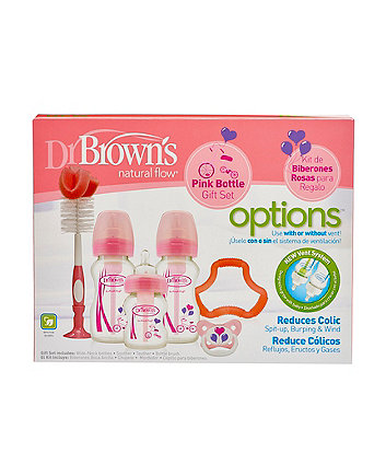 Dr Brown's options premium gift set - pink