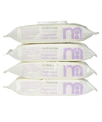 Mothercare all we know fragrance-free baby wipes - 4 x 72 wipes