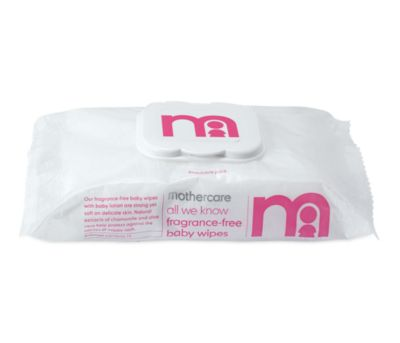 mothercare all we know fragrance-free baby wipes - 9 x 72 wipes