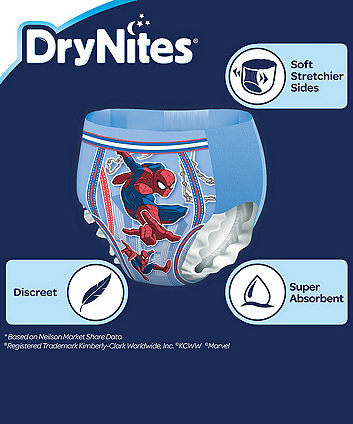 Huggies drynites boys pyjama pants 4-7 years- 10 pack