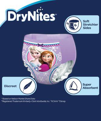 Huggies drynites girls pyjama pants 4-7years - 10 pack