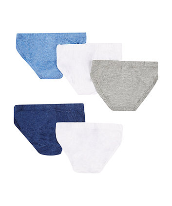 marl briefs - 5 pack