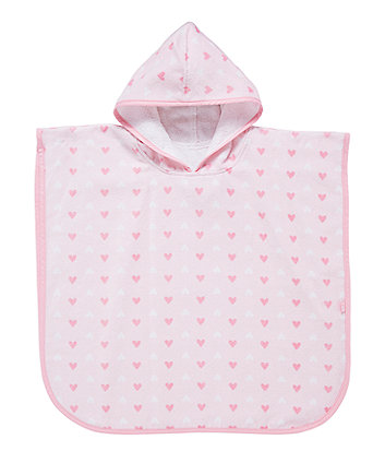 mothercare soft poncho - pink