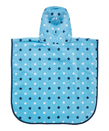 mothercare soft poncho - blue