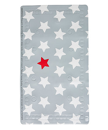 mothercare grey star non-slip bath mat