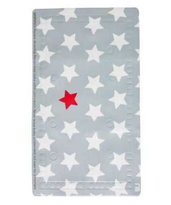 mothercare grey star non-slip bath mat