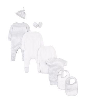 grey and white eight piece starter set