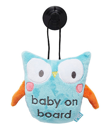 mothercare owl baby on board sign