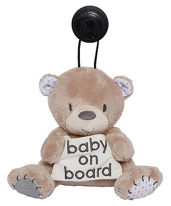 mothercare teddy's toy box baby on board sign